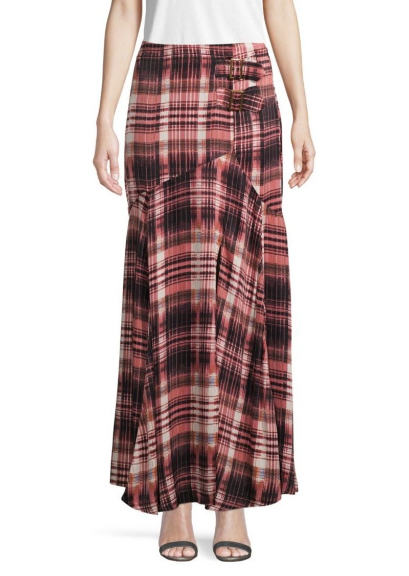 Free People Graphic Maxi Skirt