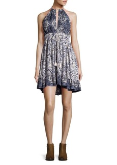 Free People Halterneck Beachday Mini Dress