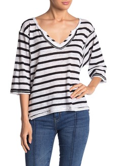 Free People Head in the Clouds Stripe T-shirt
