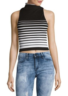 Free People High Five Striped Cropped Top
