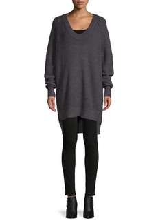 Free People High-Low Cotton-Blend Sweater