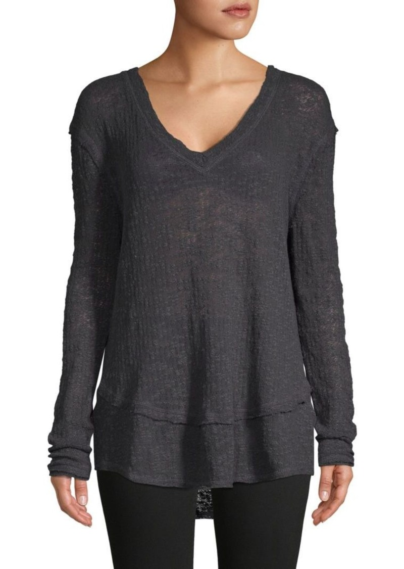 Free People High-Low Cotton Sweater