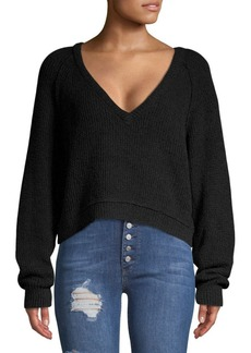 Free People High Low V-Neck Top