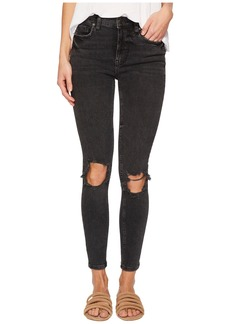 Free People High-Rise Busted Skinny