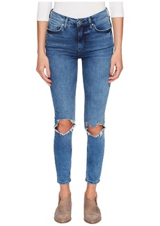 Free People High-Rise Busted Skinny in Turquoise