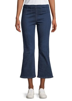 Free People High-Waisted Pull-On Cropped Jeans