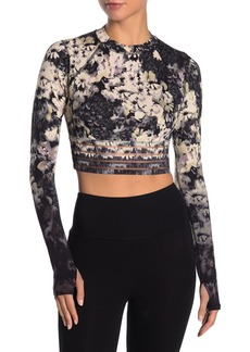 Free People Idris Floral Mesh Paneled Crop Top