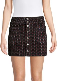 Free People Joani Cord Mini Skirt