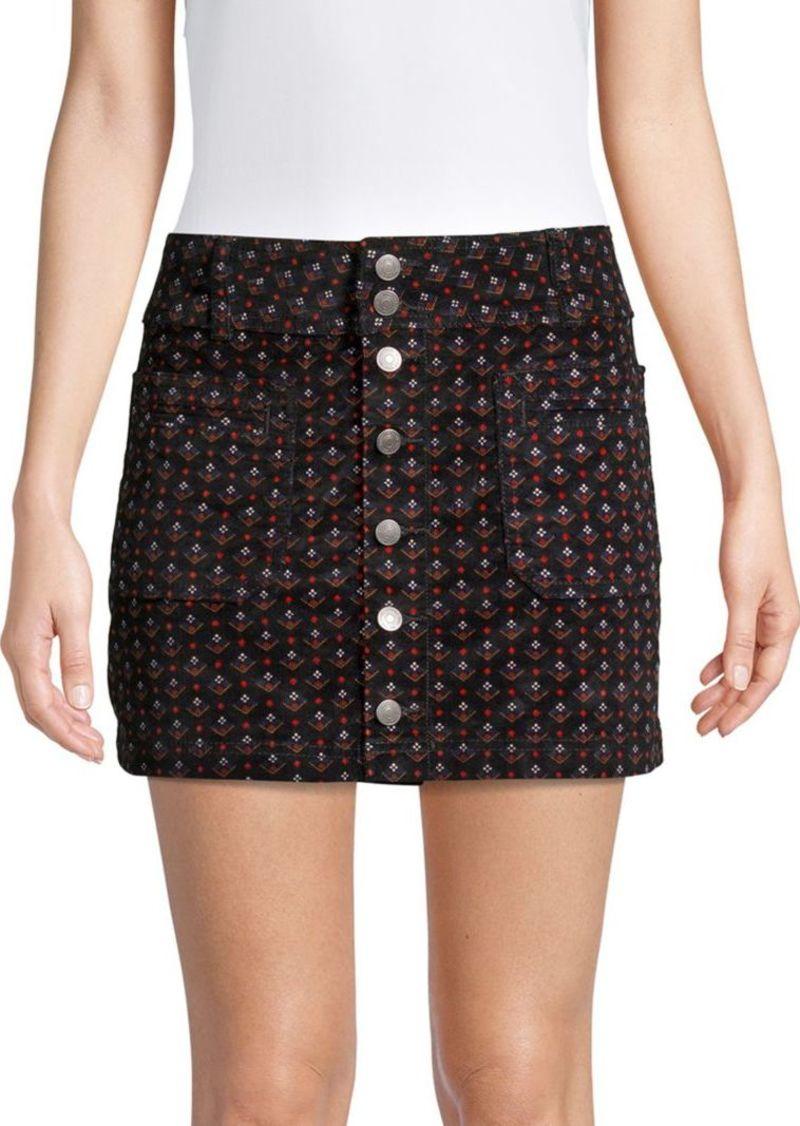 017ad1b6f4 On Sale today! Free People Joani Cord Mini Skirt