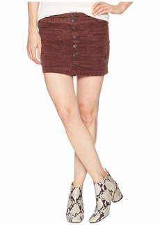 Free People Joanie Cord Solid Skirt