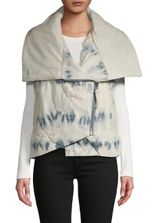 Free People Just A Little Tie-Dye Puffer Vest