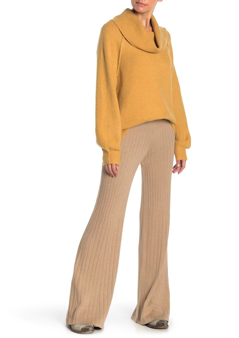 Free People Keep It Real Flare Ribbed Knit Pants