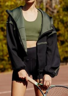Free People Kona Reversible Scuba Hooded Jacket
