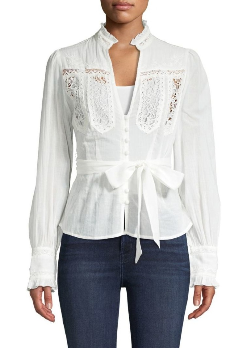 Free People Lace Cotton Top
