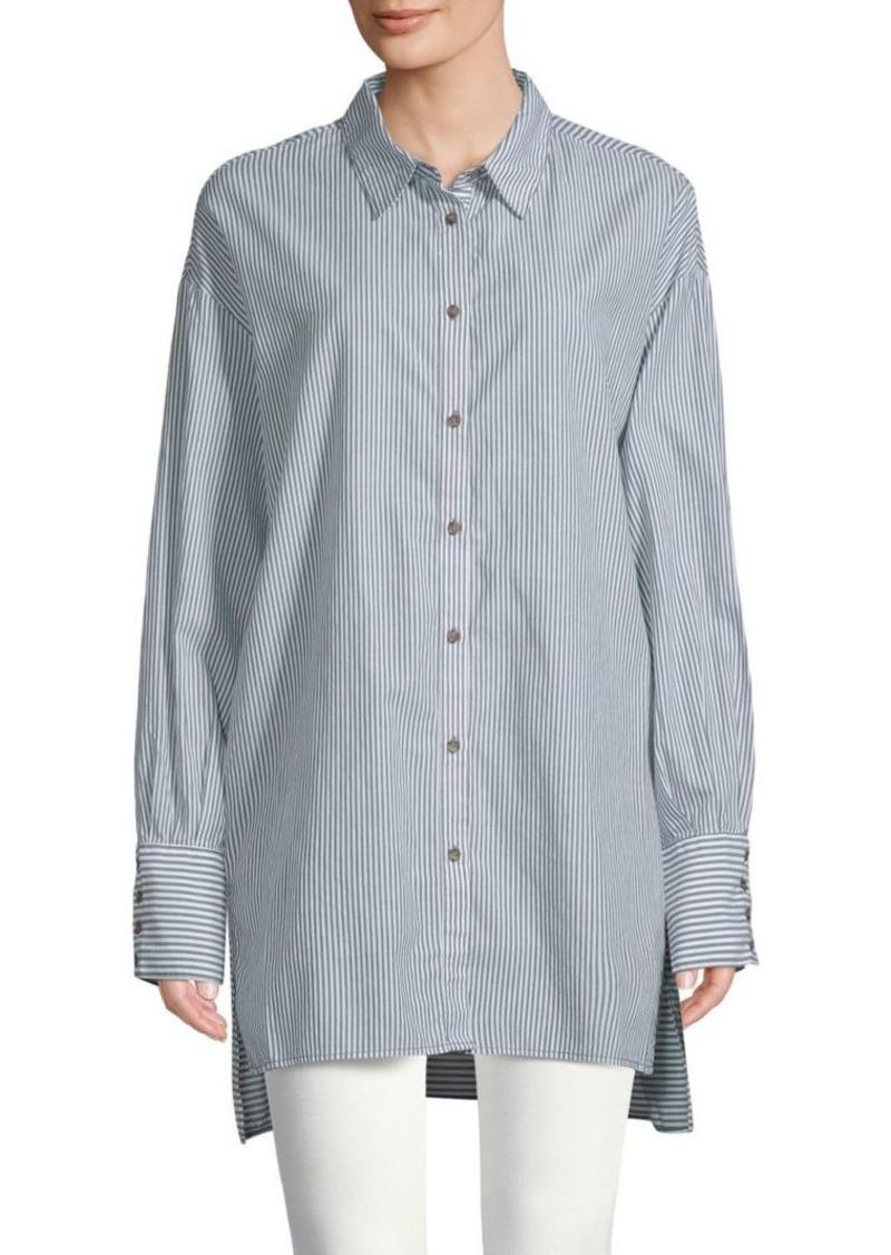 Free People Lake House Cotton Shirt