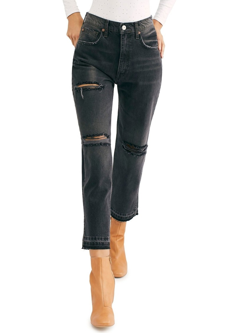 Free People Lita Crop Straight Leg Jeans