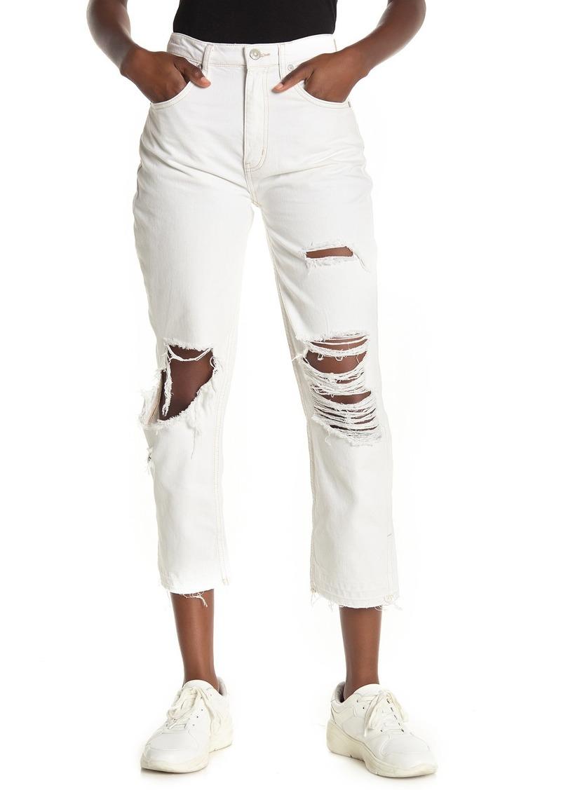 Free People Lita Distressed Slim Leg Jeans