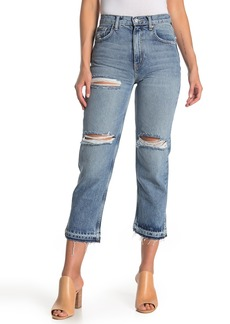 Free People Lita Ripped Straight Leg Jeans