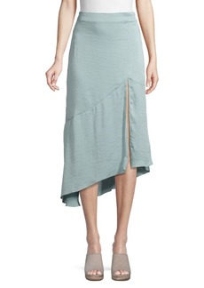 Free People Lola Asymmetrical Slit Skirt