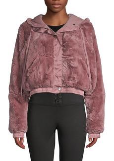 Free People Love It Soft Faux Fur Jacket
