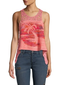 Free People Luau Crochet-Detailed Tank