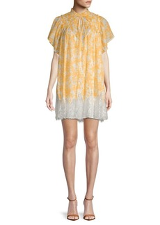 Free People Marigold Lace-Hem Cotton Shift Dress