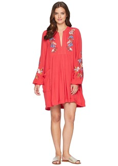 Free People Mia Gauze Embroidered Mini