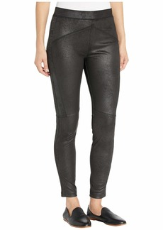Free People Midnight Faux Suede Skin Pants