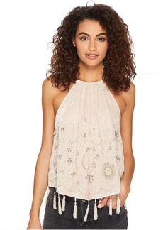 Free People Midnight Magic Embellished Tank Top