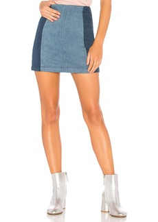 Modern Femme Color Block Mini Skirt
