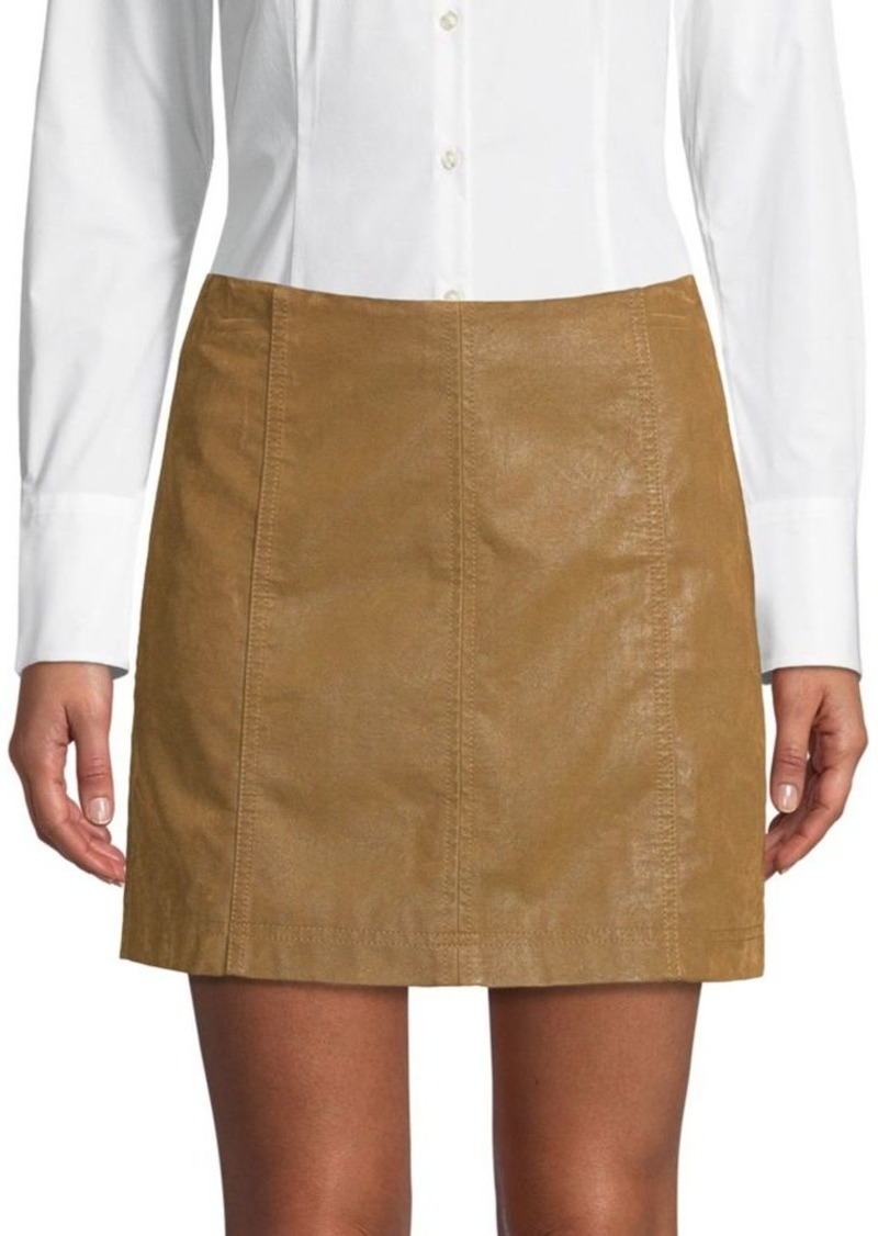Free People Faux Suede Mini Skirt