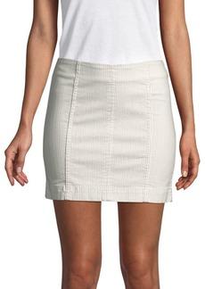 Free People Modern Femme Novelty Stripe Mini Skirt