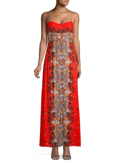 Free People Morning Song Print Sweetheart Maxi Dress