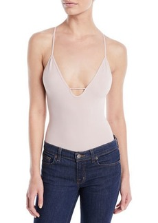 Free People Move Along Ribbed V-Neck Bodysuit