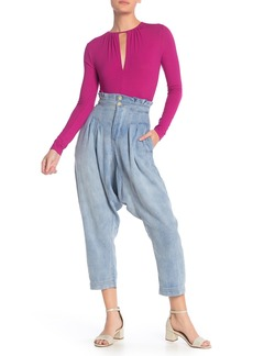 Free People Mover & Shaker Tapered Crop Denim Pants