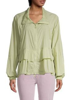 Free People Namaslay Lace-Trim Jacket