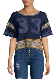 Free People Nicky Number Graphic Cotton Tee