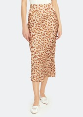 Free People Normani Bias Printed Midi Skirt