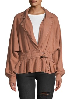 Free People Notch Lapel Peplum Jacket