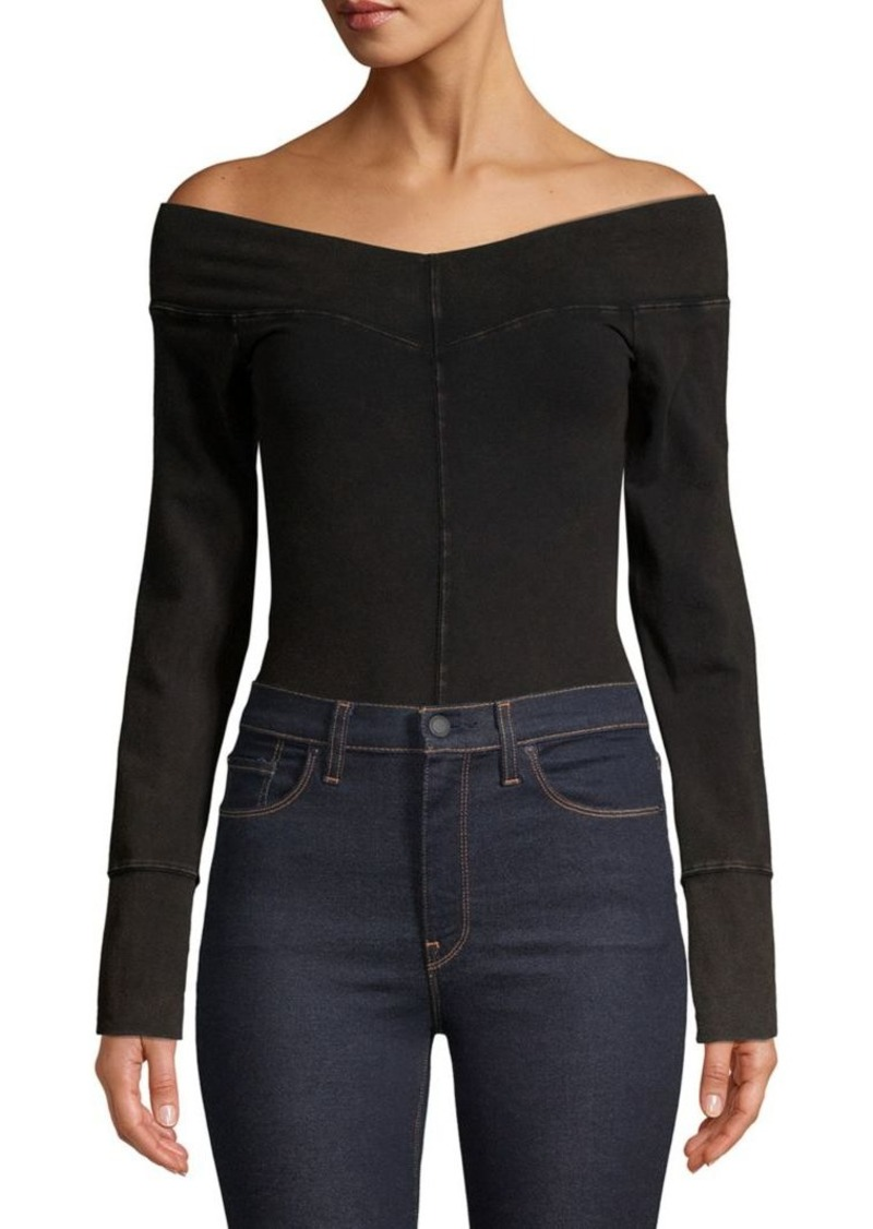 Free People Off-The-Shoulder Long-Sleeve Bodysuit