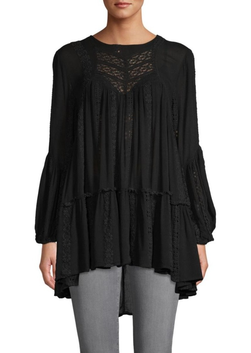 Free People Open-Back Embroidered Tunic