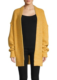 Free People Open-Front Cotton-Blend Cardigan