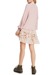 Free People Opposites Attract Mixed Media Mini Dress