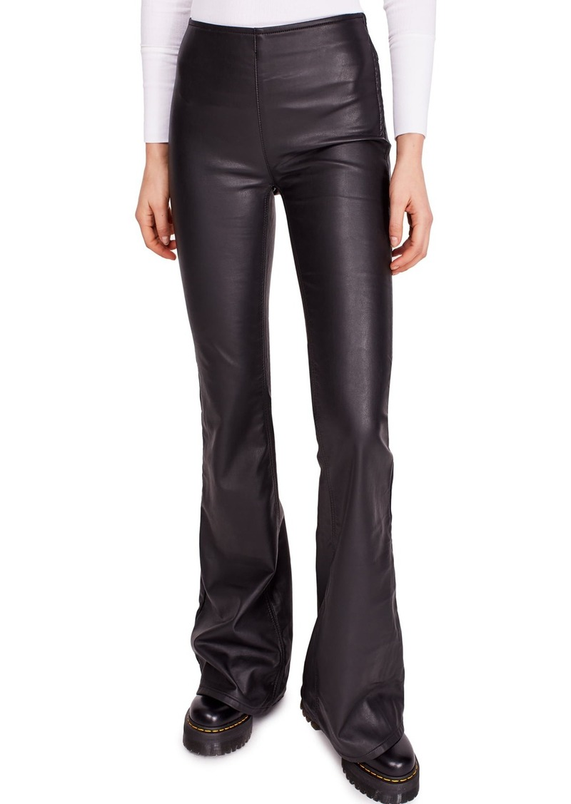 Free People Penny Pull-On Flared Vegan Leather Pants