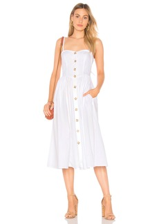 Free People Perfect Peach Poplin Midi Dress