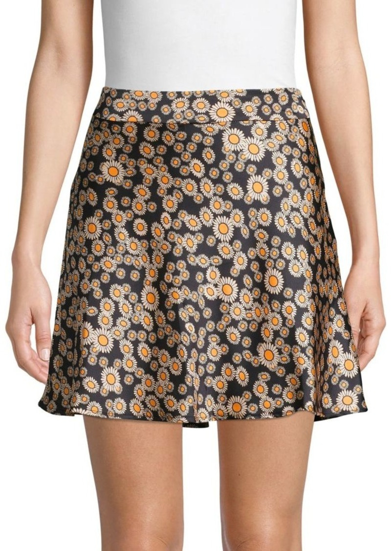 Free People Phoebe Floral Mini Skirt