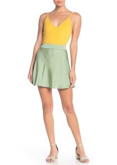 Free People Phoebe Satin Mini Skirt