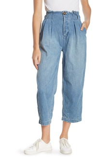 Free People Pleated Carrot Cropped Pants