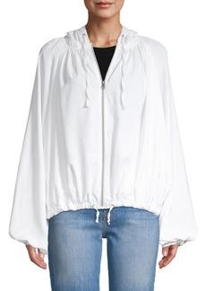 Free People Pleated Hooded Jacket