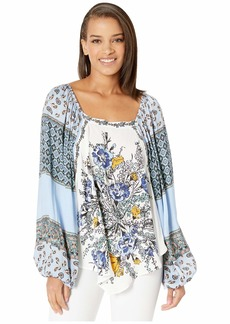 Free People Positano Printed Blouse